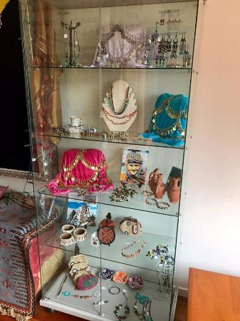 Carterton, New Zealand: Our jewellery cabinet with pieces from turkey
