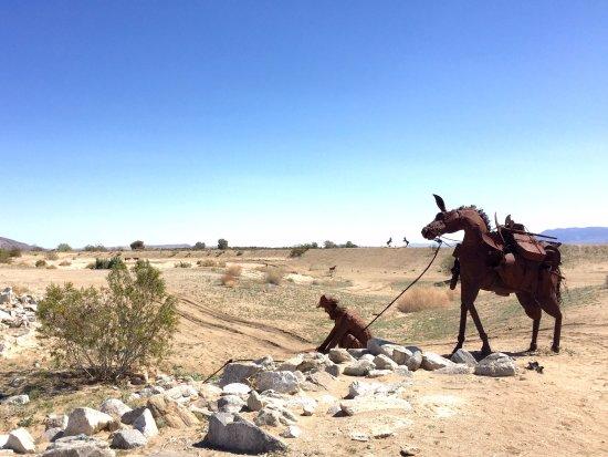 Боррего-Спрингс, Калифорния: Prospector and his horse