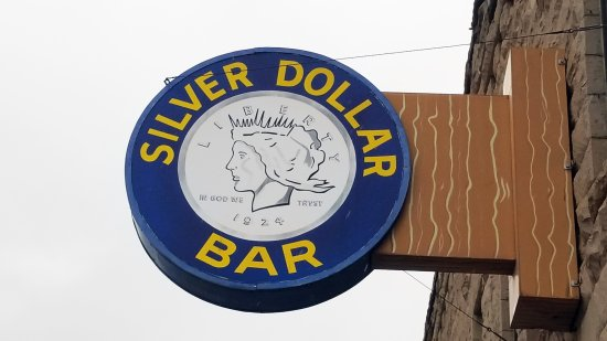 Silver Dollar Bar and Grill : Street Sign