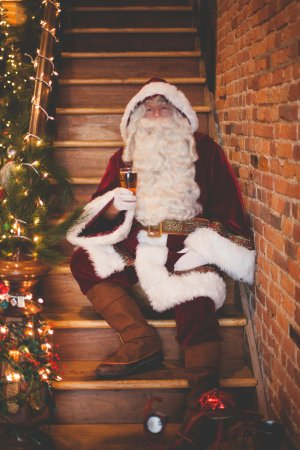 DuQuoin, IL: Old St. Nick usually visits us sometime in December for Beers with Santa