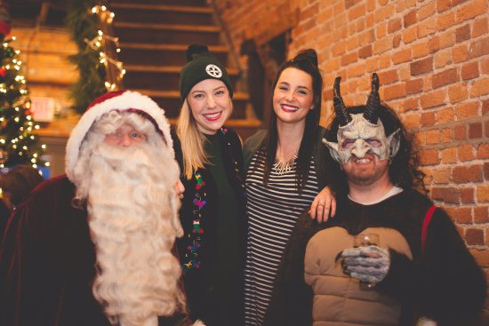 DuQuoin, IL: Santa, Krampus, and his little elves last year