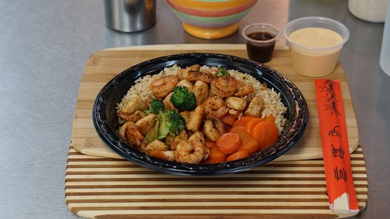 Mauldin, Южная Каролина: Hibachi Shirmp and Chicken