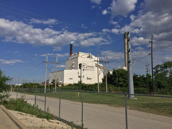 Country Inn & Suites by Radisson, Springfield, IL: View of the city power plant from the hotel parking lot