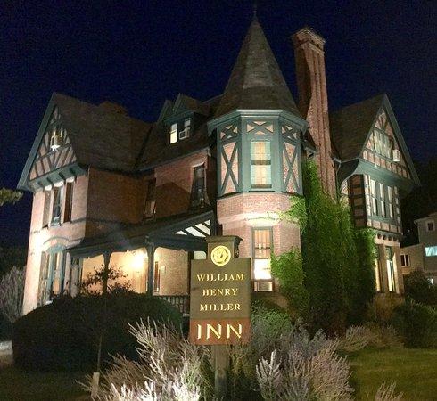 The William Henry Miller Inn: The Inn at night.