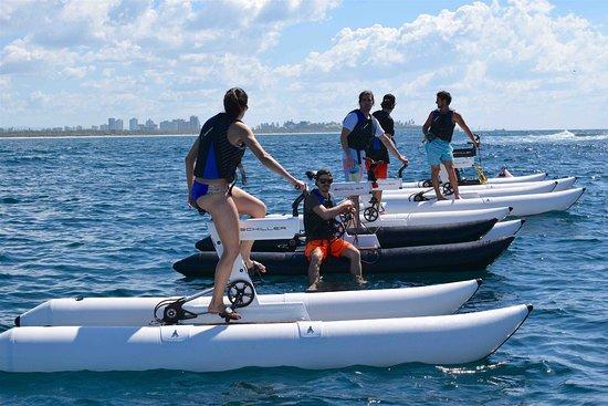 Water bike tours, Gold Coast.
