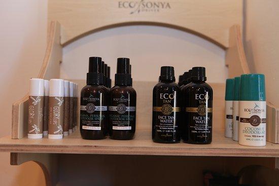 lip balm, mozzy spray , face tan   deodorant - Picture of Eco Bali