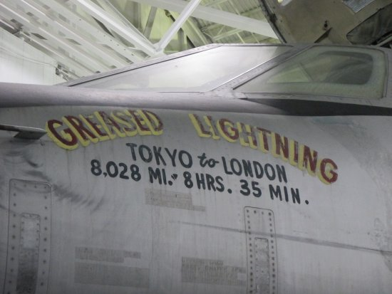 Ashland, NE: B-58 Hustler with speed record on fuselage