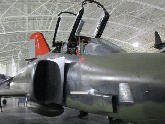 Ashland, NE: Side view of F-4 Phantom