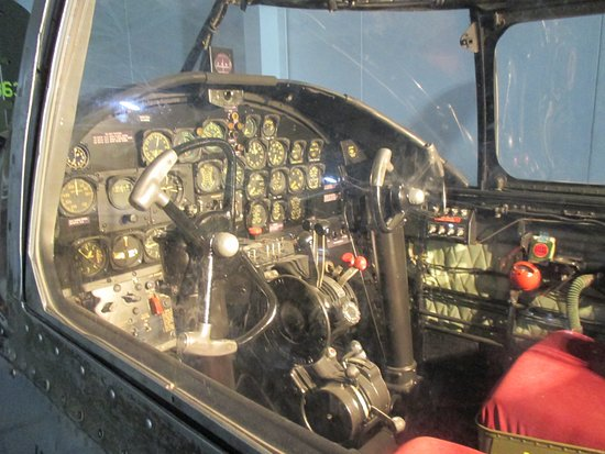 Ashland, NE: View of B-25 cockpit exhibit