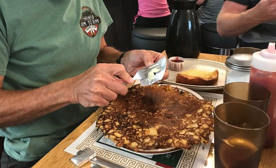 Houghton, MI: The giant pancake, one of the specialties at Suomi.