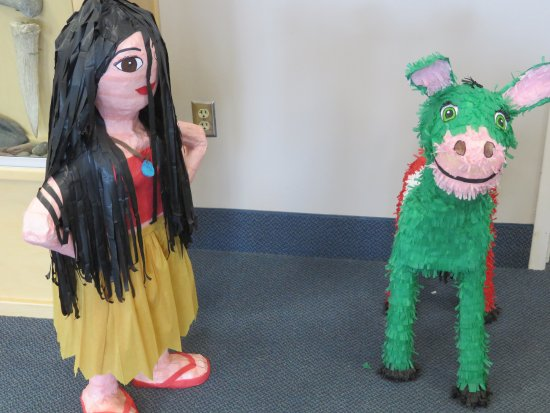 Four Rivers Cultural Center & Museum: Piñatas for Mexican Independence Day celebrations.
