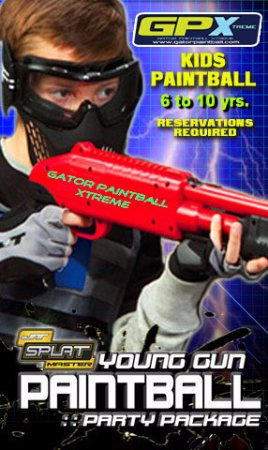 Hudson, FL: RESERVE YOUR BIRTHDAY PARTY FOR THE YOUNG KIDS AT GATOR PAINTBALL XTREME!