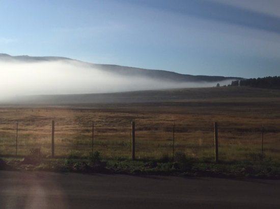 Angel Fire RV Resort: Mist in the valley