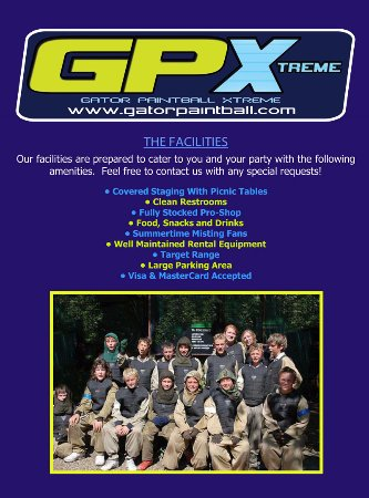 Hudson, FL: WE PROVIDE YOU WITH EVERYTHING THAT YOU NEED AT GATOR PAINTBALL XTREME!