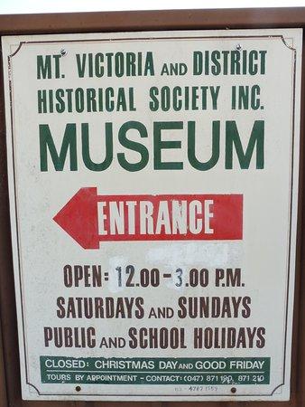Mount Victoria, Australien: 開館時間が短すぎる?