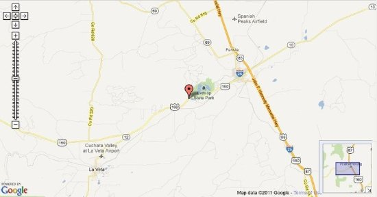 Walsenburg, CO: Hotel Map Location