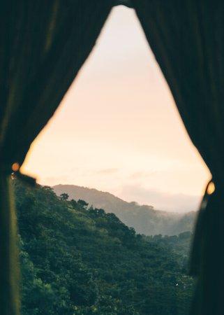San Juan la Laguna, Guatemala: Hermosa vista desde mi habitación.