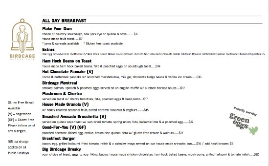 Altona, Australië: All Day Breakfast Menu