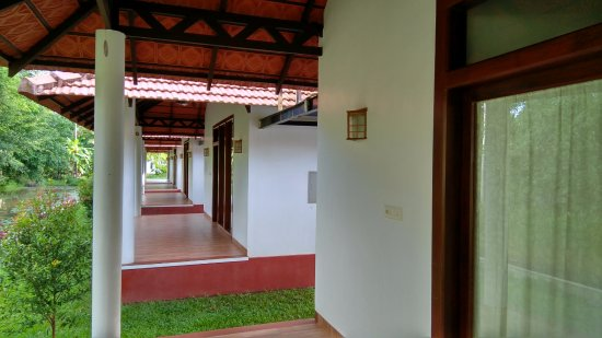 Palmgrove Lake Resort: From our Veranda, other verandas seen.