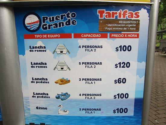 Lago del Bosque de Chapultepec : Precios