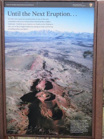 Arco, ID: Park poster with an aerial view of the great rift