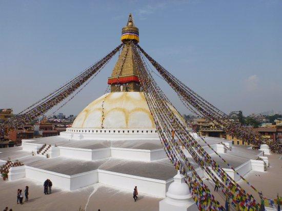 Kathmandu Valley, Nepal: Bodanath, la stupa, avant le tremblement de terre de 2015.