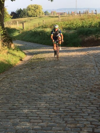 Оуденаарде, Бельгия: near the top of the Oude Kwaremont