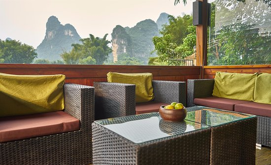 View from new family suite - Yangshuo Mountain Retreat - Guilin Yangshuo China