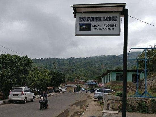 Estevania Lodge sign
