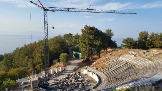 Thassos Town (Limenas), Grækenland: Ancient Theater of Thassos