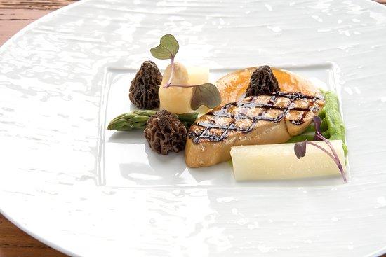 Sihlbrugg, Suisse : Foie gras - Spargel- Morchel