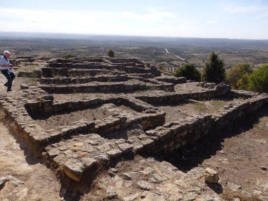 Calaceite, Испания: Poblado ibérico de S.Antonio, estructura de calles y casas.