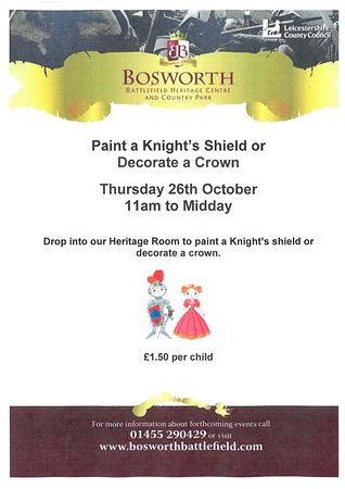 Sutton Cheney, UK: Paint a Shield New post