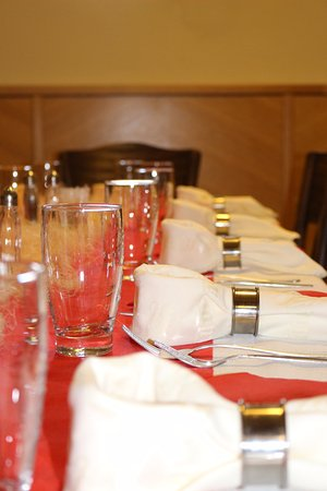 Jilemnice, Czech Republic: Úprava stolů