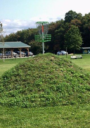 Hughesville, Pensilvania: Hole #18 Elevated Basket