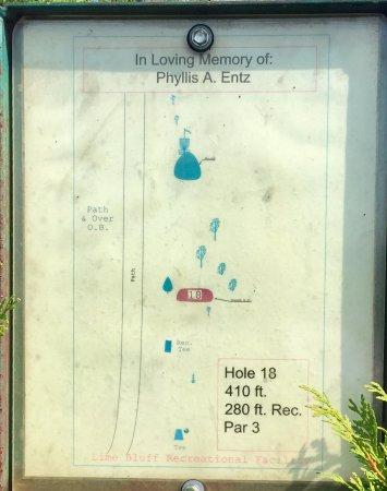 Hughesville, Pensilvania: Hole #18 Map