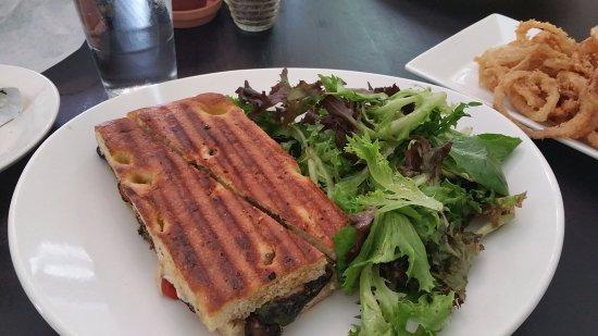 Garrett Park, MD: Vegetable Panini with side salad
