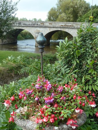 Ducey, France: The river from the garden