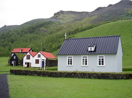Volcano Tours: Another chuch on the way to Myrdal