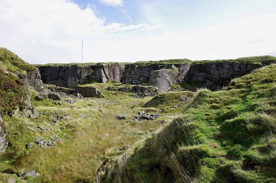 Princetown, UK: The quarry from a distance
