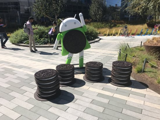Mountain View, Kalifornia: Google Android Lawn Statues