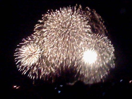 Kure Sea Fireworks: 後半の尺玉連発