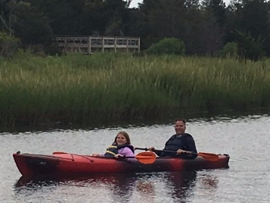 West Dennis, MA : My daughter Kayla and I canoeing