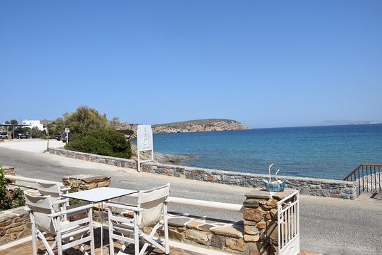 Moutsouna, Grecia: View from the Ostria restaurant teraace