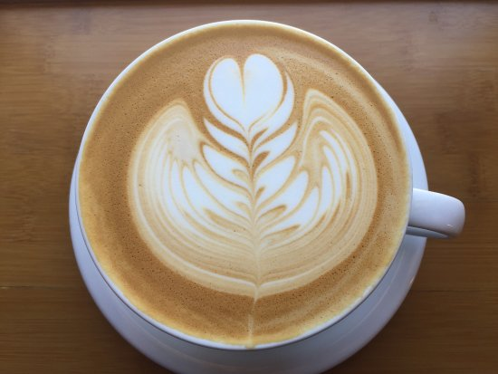 Walla Walla, WA: Beautiful lattee art in every cup! Our Barista Lael made this masterpiece!