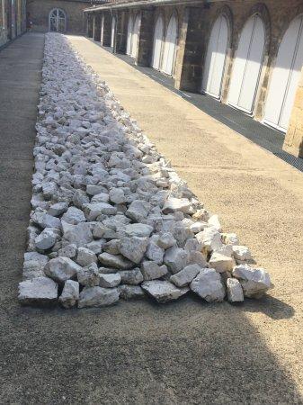 CAPC Musee d'Art Contemporain : Richard Long  White rock line
