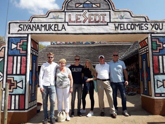 Lanseria, Sudáfrica: laatste foto voor vertrek