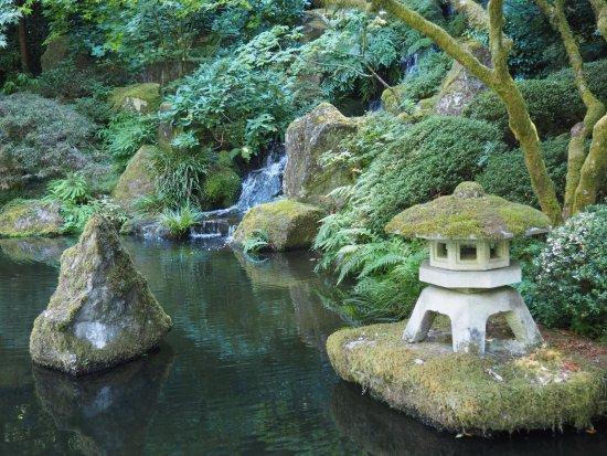 Japanese garden water feature. - Picture of Portland Japanese Garden ...