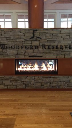 Versailles, KY: Fireplace at Woodford