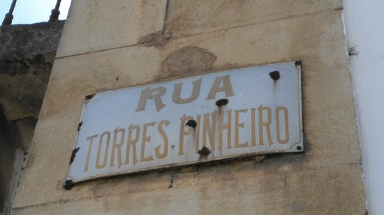 Tomar, Portugalia: la calle del restaurante
